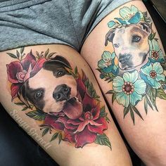 Dog Tattoos, Animal Tattoos, Cute Tattoos, Beautiful Tattoos, Body Art Tattoos, Sleeve Tattoos, Floral Tattoo Design, Flower Tattoo Designs, Tattoo Designs For Women