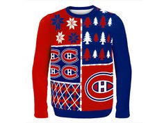 TSN - Montreal Canadiens Men's Busy Block Ugly Christmas Sweater