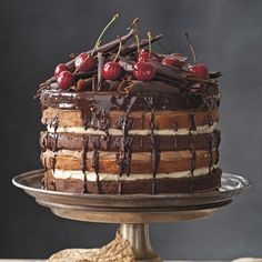 An updated version of your classic Black Forest Gateau. A gorgeously rich cake. So many layers! www.redonline.co.uk