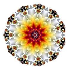 Fractals - 'Autumn Glow' kaleidoscope - By Unknown Mandala Art, Mandala Design, Color Optical Illusions, Kaleidoscope Images, Hamsa Art, World Of Color, Fractal Art, Sacred Geometry, Fantasy Art