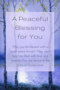 May you have a blessed and peaceful night. Let go of your worries and rest peacefully in love and serenity. <3