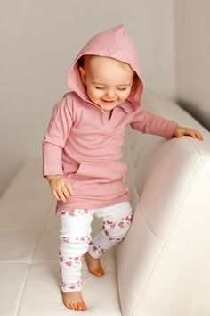 Mauve Hearts Baby Leggings   ROOLEE Baby
