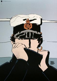 Reproductions, fine art prints, posters of Corto Maltese by Hugo Pratt. We also propose for sale a large choice of original works of Art and reproductions by contemporary artists Comic Book Artists, Comic Artist, Illustrations, Illustration Art, Hugo Pratt, Jordi Bernet, Comic Kunst, Animation, New Poster