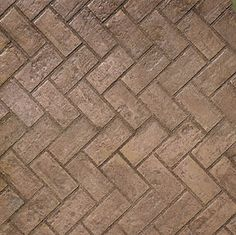 stamped concrete pattern - Used Brick - Herringbone