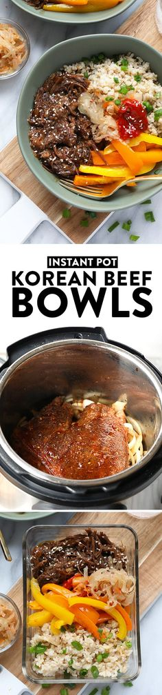 Start your week off right with these Instant Pot Shredded Korean Beef Bowls. Your family and friends will absolutely love this meal! It tastes fancy but only takes a couple hours to prepare fall-off-the-bone shredded Korean beef with your Instant Pot.
