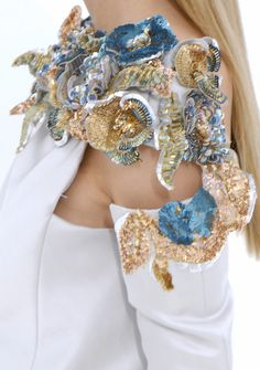 Chanel - bead and sequin embellished shoulder piece