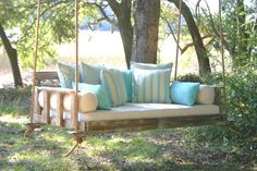 The most beautiful hanging bed swings on the planet, customized by you, handmade in Charleston, South Carolina and shipped all over the country.