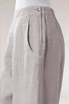 Zipper-Linen-Side-Pockets-Casual-Pants - shopingnova Source by eridanjacinto clothes patterns Fashion Pants, Hijab Fashion, Pants For Women, Clothes For Women, Linen Pants Women, Kurta Designs, Pants Pattern, Wide Leg Pants, Ankle Pants