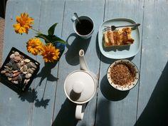 Frühstück draußen