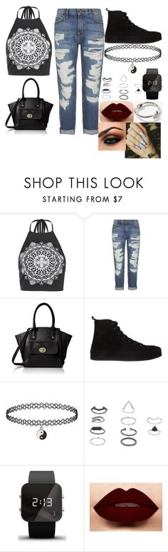 """Untitled #219"" by boxergirl57 ❤ liked on Polyvore featuring Boohoo, Current/Elliott, Ann Demeulemeester, Topshop and 1:Face"