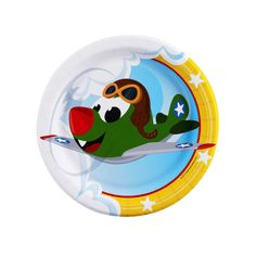 Airplane Adventure Dessert Plates from BirthdayExpress.com