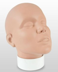 Vinyl face painting practice face. wig stand male female store display hat make up head face prop mannequin | eBay $47.99 with FREE standard U.S. shipping