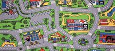Car Play Mat | Play Rug For Cars: Street Play Rug & Road Play Rug