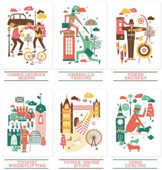Londoner Games Christmas Card set by Sane and Able