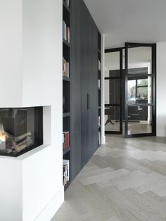 oak + herringbone + greys |= flooring