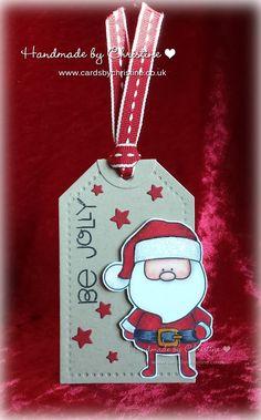 Handmade by Christine: A little Santa tag...