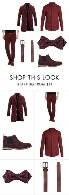 """""""Red"""" by marcyssa-brown ❤ liked on Polyvore featuring Basicon, KG Kurt Geiger, Giorgio Armani, Drakes London, Element, men's fashion and menswear"""