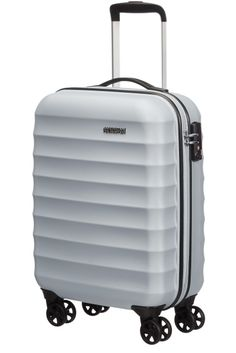 American Tourister Palm Valley Spinner 55cm Metallic Silver