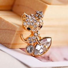 Rhinestone Cat Studs Silver - One Size Discount Jewelry, Studs, Wedding Rings, Engagement Rings, Cat, Earrings, Silver, Stuff To Buy, Accessories