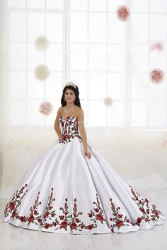 Quinceanera Dress House of Wu. dresses mexican mexico Quinceanera Dress 26908 House of Wu Mexican Quinceanera Dresses, Quinceanera Themes, Charro Dresses, Quince Dresses Mexican, 15 Dresses, Wedding Dresses, Pageant Dresses, Simple Dresses, Formal Dresses