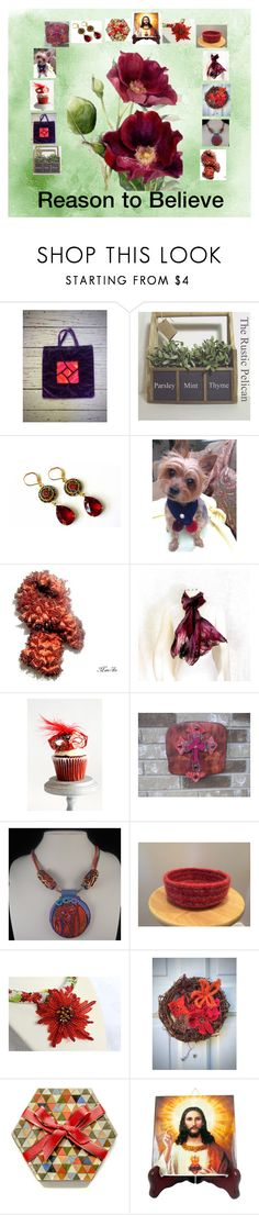 """""""Reason to Believe: Handmade Gift Ideas"""" by paulinemcewen ❤ liked on Polyvore featuring interior, interiors, interior design, home, home decor, interior decorating, Masquerade, Hostess, rustic and vintage"""