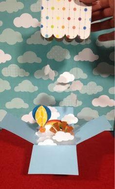 Silhouetteira Voadora: Festa no céu! - Caixa-convite pop-up de balão