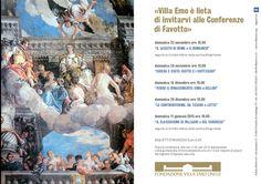 #CONFERENZE a cura di #FAVOTTO: 5 incontri sulla storia dell'arte, dall'antica Roma al Veronese.  Info: 0423 476334 - info@villaemo.tv.it