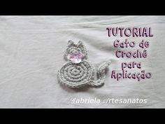 Gato Crochet, Crochet Hats, Painted Rocks, Crochet Earrings, Crochet Patterns, Crafty, Tutorial Applique, Sewing, Knitting