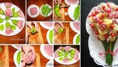 21 easy food decoration ideas you will love Food Crafts, Diy Food, Comida Diy, Food Carving, Vegetable Carving, Spicy Sausage, Food Garnishes, Garnishing, Food Decoration