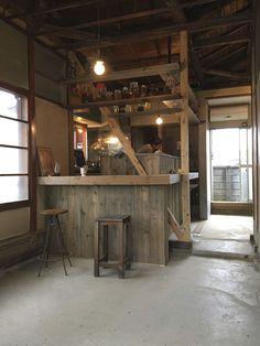 野ざらし荘(村のバザール) - Studio Doug Cafe Design, Store Design, Interior Design, Cabana, Mini Store, Noodle Bar, Tree House Designs, Kitchen Display, Natural Interior