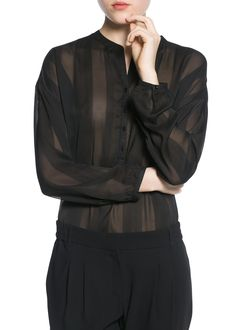 Blusa textura rayas - Blusas y camisas de Mujer  b3778c922e39