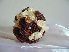 Bézs-barna szatén menyasszonyi csokor (M) - mieskuvonk.hu Cake, Desserts, Food, Tailgate Desserts, Deserts, Kuchen, Essen, Postres, Meals