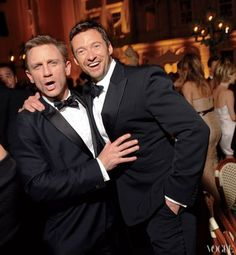 Daniel Craig AND Hugh Jackman..this is kind of an epic picture