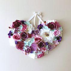 Nursery Wall Decor, Heart, Flower girl gift, Baby pink, Nursery decor, Nursery hanging heart / Baby shower gift, Photography Prop