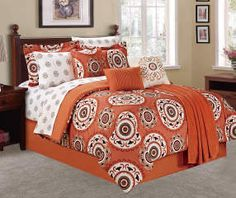 Buy a Suzani Paprika & Cream 12-Piece Queen Comforter Set at Big Lots for less. Shop Big Lots Non-Navigable Products in our  department for our complete selection.