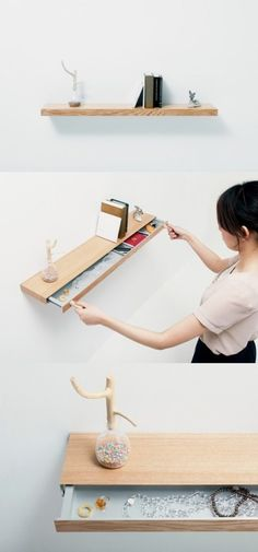 Creative drawer can be used to place some valuable things.