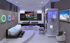 Łazienka w stylu high-tech: jak powinna się prezentować? http://krolestwolazienek.pl/lazienka-w-stylu-high-tech-sie-prezentowac/
