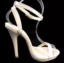 NUDE Ankle Strap Heel Sandal 5.5 FREE U.S. SHIPPING