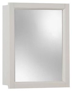 Jensen 755459 Sheridan Framed Medicine Cabinet, Classic White Wood, Surface  Mount, 15 Inch By 19 Inch