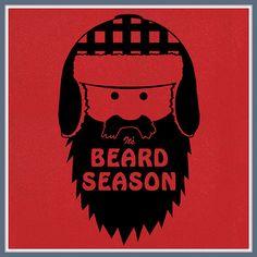 Beard Season T Shirt It's Funny Moustache Fear the I a question Humor Tee