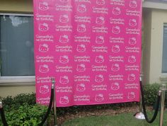 Great Hello Kitty photo backdrop
