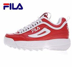 FILAS Disruptor II 2 Running Shoes Summer Sport Shoes Men Breathable  Zapatillas Women Increased Sneakers 0001 494bdf79aab0