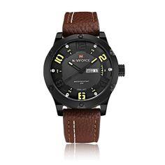 NAVIFORCE Watches Men 2016 Luxury Brand Men's Quartz Hours Date Clock Male Military Leather Casual Waterproof Sports Wrist watch