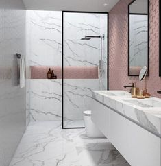 44 Simply Black And White Tile Bathroom Decor Ideas - The clinical gleam of the leading interior design trends over the last decade has left something of a mark on the state of the average household. Bathroom Tile Designs, Modern Bathroom Design, Bathroom Interior Design, Bathroom Ideas, Bathroom Organization, Shower Ideas, Bathroom Remodeling, Bathroom Storage, Bathroom Showers