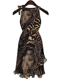 Enticing Chiffon  Skater Dress Skater Dresses from fashionmia.com