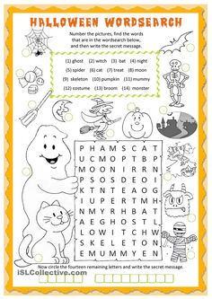 Halloween wordsearch worksheet - Free ESL printable worksheets made by teachers