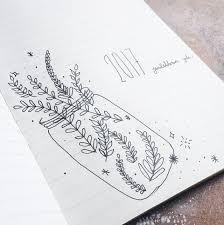 """Résultat de recherche d'images pour """"bullet journal dessin plante"""""""
