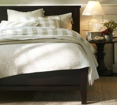 Can't wait to shop Stateside! We need a REAL bed!  Potterybarn bed and bedding