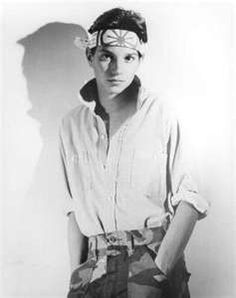 Karate kid soooo hot I wish I was alive in the 80s ❤