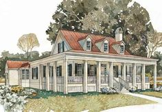 Bayside Homestead - Southern Living House Plans
